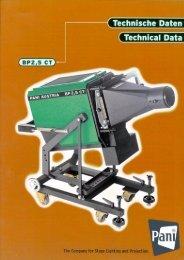 BP 2,5 CT (Turbo) Bühnenprojektor - Pani Projection and Lighting