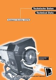 Technische Daten Technical Data - Pani Projection and Lighting