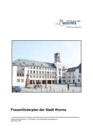 Frauenförderplan 2011 - Worms