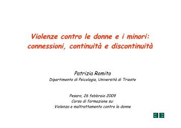 Intervento dott.ssa Romito - Provincia di Pesaro e Urbino
