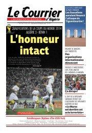 Numéro° 2757 du mercredi 27 mars - Le Courrier d'Algérie