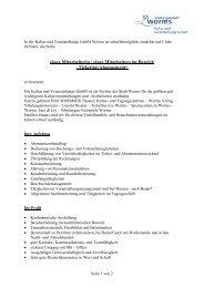 In der Kultur- und Veranstaltungs GmbH Worms ist ab dem 01