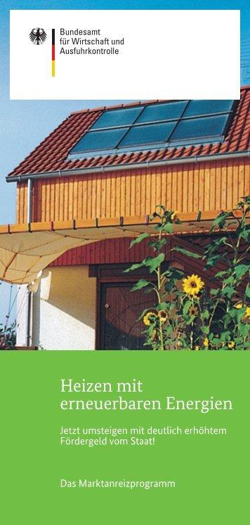 Heizen mit erneuerbaren Energien - Bundesamt für Wirtschaft und ...