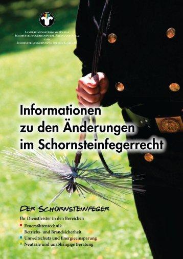 Broschüre zu den Neuerungen im Schornsteinfegerwesen - Worms