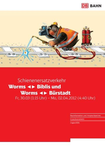 Schienenersatzverkehr Worms Biblis und Worms Bürstadt