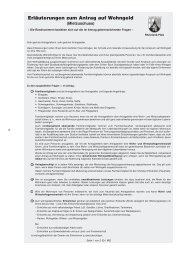 Mietzuschuss Erläuterungen zum Antrag - Worms