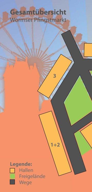 Lageplan Wormser Pfingstmarkt 2011