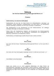 Satzung als PDF Dokument - Worms