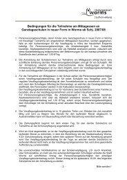 Teilnahmebedingungen/Entgeltordnung (PDF) - Worms
