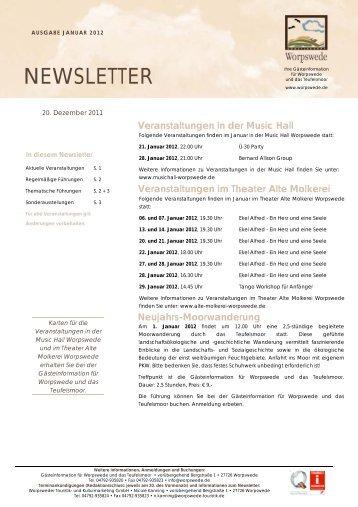 Newsletter Januar 2012 - Worpswede