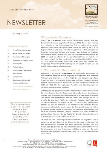NEWSLETTER - Worpswede