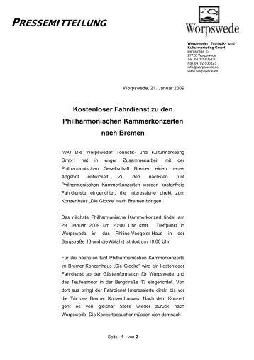 PRESSEMITTEILUNG - Worpswede