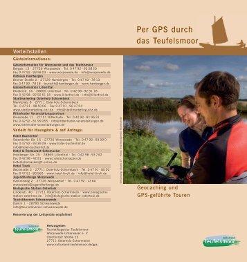 Per GPS durch das Teufelsmoor - Worpswede