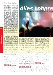 Guido Baltes - Alles Lobpreis oder was Artikel - Worshipworld.de