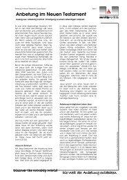 Guido Baltes - Anbetung im Neuen Testament - Worshipworld.de