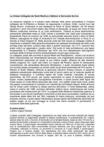 La Chiesa Collegiata dei Santi Martino e Stefano - Comune di ...