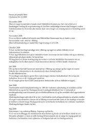 Status på projekt Stier Opdateret 06-12-2008 December 2008 Efter ...