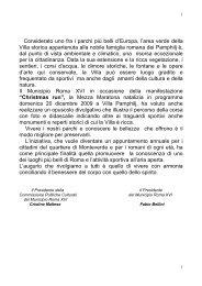 opuscolo divulgativo - Comune di Roma