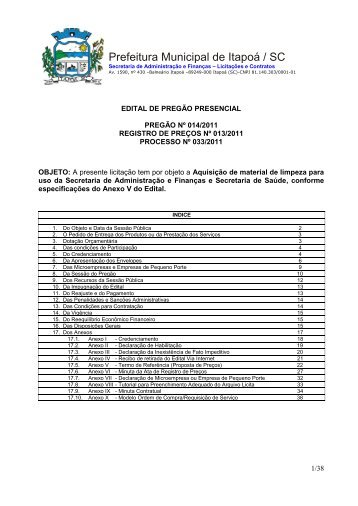 edital_material de limpeza - Interesse Municipal