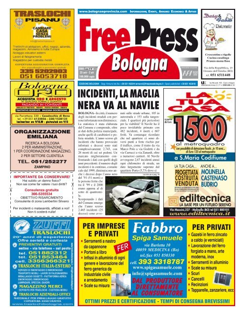 Dondi Salotti Castel Maggiore.Incidenti La Maglia Nera Va Al Navile Free Press Bologna