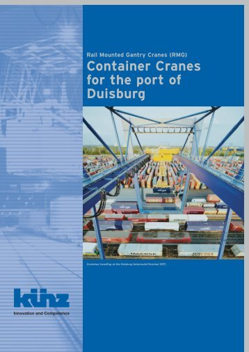 Container Cranes for the port of Duisburg