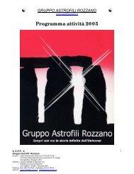 Programma anno 2005 - Gruppo Astrofili Rozzano