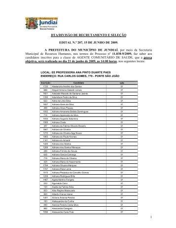 Locais de prova - 18/06/2009 - Concursos