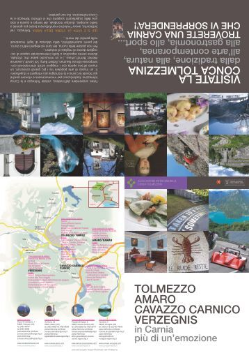 Download depliant turistico / tourism flyer - Conca tolmezzina