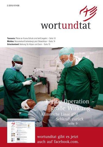 Kleine Operation – große Wirkung - wortundtat