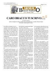 CARO BRACCO TI SCRIVO….. - Bracco Italiano