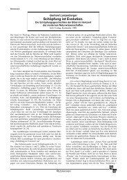 Rezension: Gerhard Lanzenberger: Schöpfung ... - Wort und Wissen