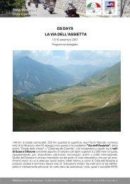 GS DAYS LA VIA DELL'ASSIETTA - BMW Moto Club Visconteo