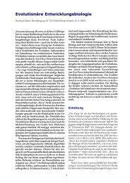Evolutionäre Entwicklungsbiologie - Wort und Wissen