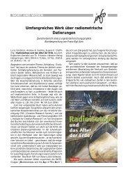 Umfangreiches Werk über radiometrische ... - Wort und Wissen