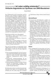 Kritische Argumente zur Synthese von DNS ... - Wort und Wissen