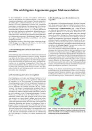 Die wichtigsten Argumente gegen Makroevolution - Wort und Wissen