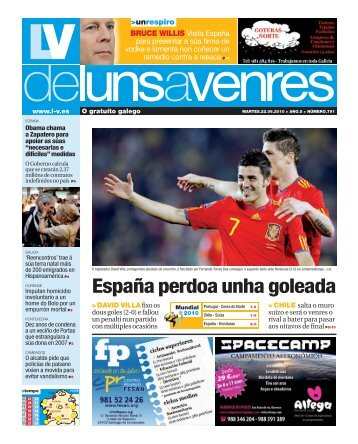 España perdoa unha goleada > DAVID VILLAfixo - Galiciaé