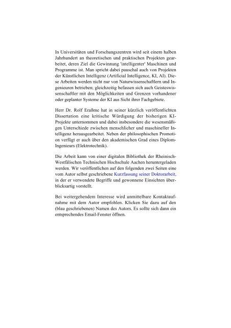 """Der Mensch und die """"Künstliche Intelligenz"""" - Wort und Wissen"""