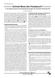 Schrieb Mose den Pentateuch?; 3. Teil ... - Wort und Wissen