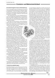 Evolution und Wahrscheinlichkeit - Wort und Wissen