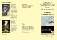 SCHÜLER- WOCHENENDE - Wort und Wissen