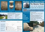 Windows on the Biblical Past The Massive Threat: - Wort und Wissen