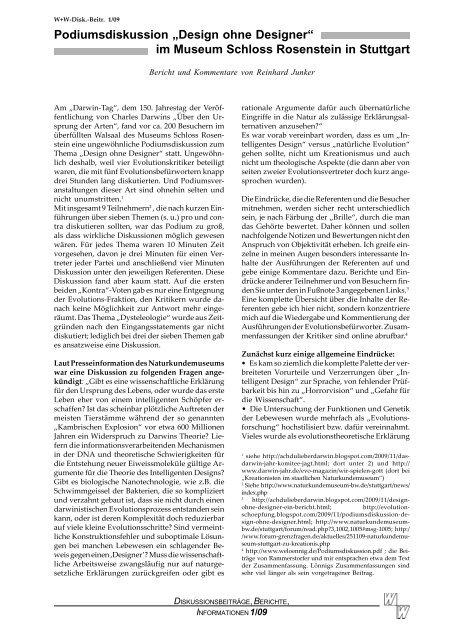 Podium Stuttgart - Wort und Wissen