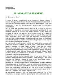 IL MOSAICO LIBANESE di Giancarlo Bove - Misteri d'Italia
