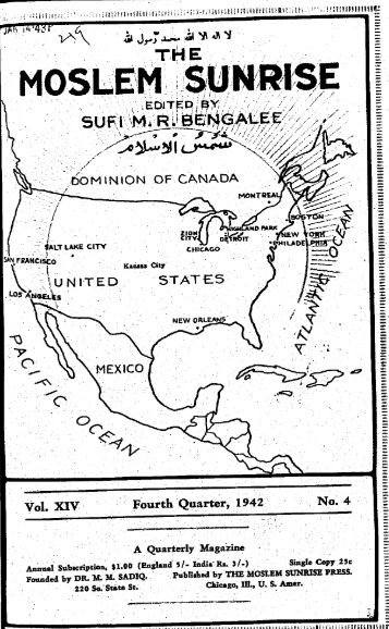1942, IV - The Muslim Sunrise