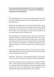 Vortrag des Bundeskanzlers Willy Brandt zum Thema ...