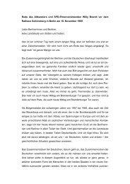 Rede des Altkanzlers und SPD-Ehrenvorsitzenden Willy Brandt vor ...