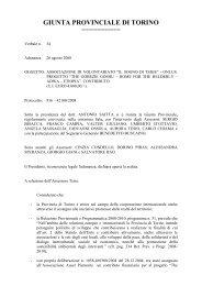 GIUNTA PROVINCIALE DI TORINO - Provincia di Torino