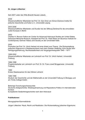 CV - Bundeskanzler Willy Brandt Stiftung