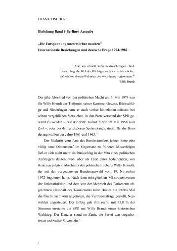 Einleitung Band 9 - Bundeskanzler Willy Brandt Stiftung